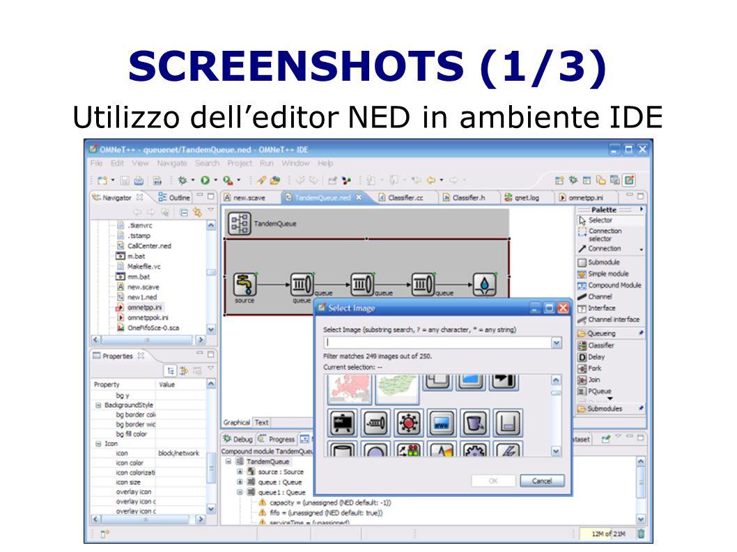 SCREENSHOTS (1/3) Utilizzo delleditor NED in ambiente IDE