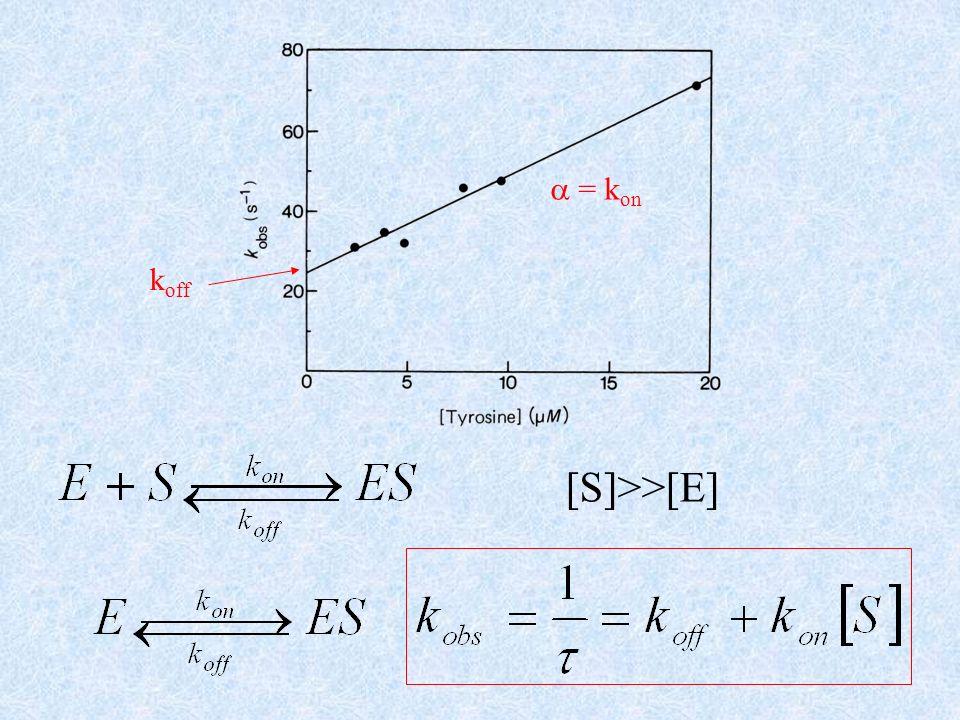 [S]>>[E] k off = k on
