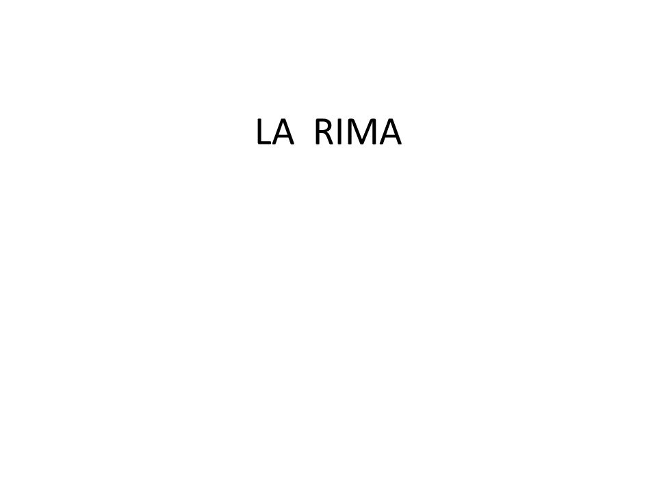 LA RIMA