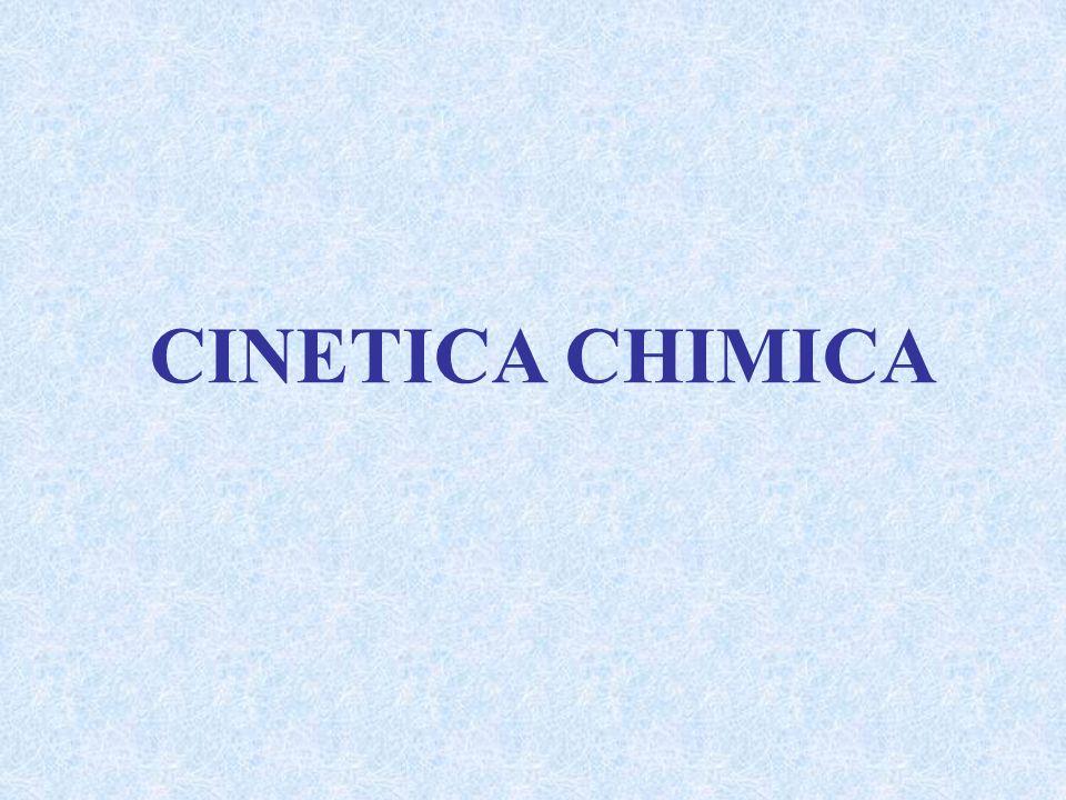 Cinetica: studio della velocità di una reazione Scopo della Cinetica: comprendere il meccanismo della reazione, ovvero la sequenza delle tappe elementari che compongono una trasformazione chimica La velocità di una reazione ed il modo in cui essa varia in risposta a condizioni diverse sono strettamente correlati al meccanismo della reazione.