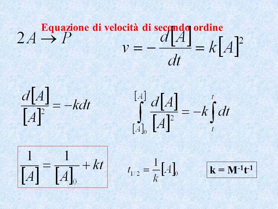 k = M -1 t -1 Equazione di velocità di secondo ordine