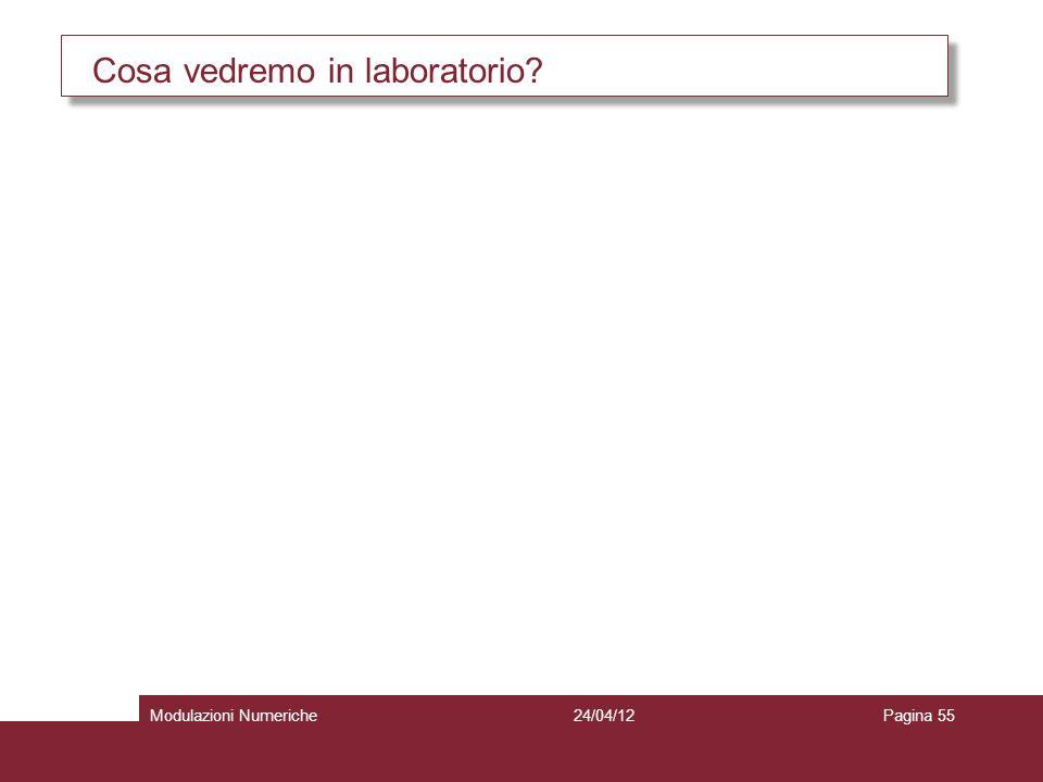 Cosa vedremo in laboratorio? 24/04/12Modulazioni NumerichePagina 55