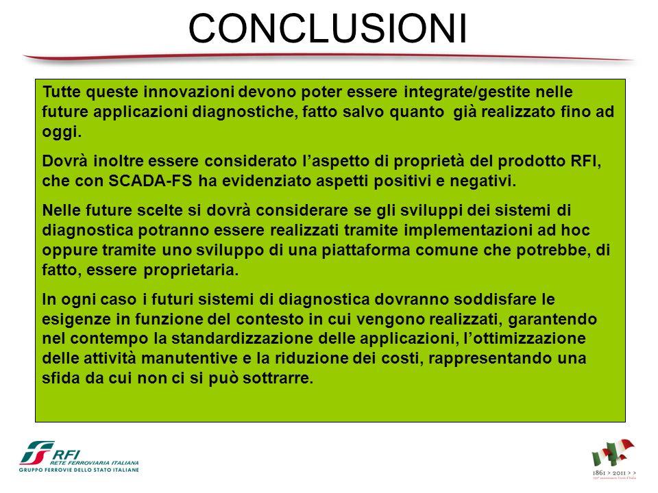 CONCLUSIONI Tutte queste innovazioni devono poter essere integrate/gestite nelle future applicazioni diagnostiche, fatto salvo quanto già realizzato f