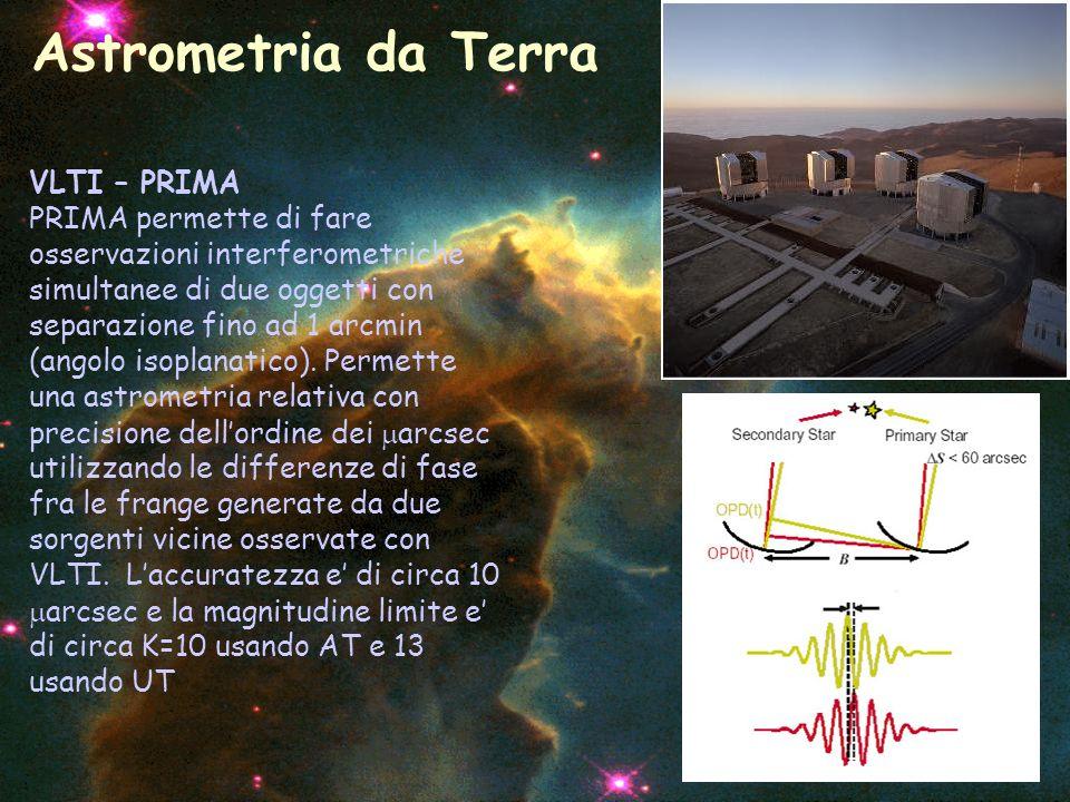 VLTI – PRIMA PRIMA permette di fare osservazioni interferometriche simultanee di due oggetti con separazione fino ad 1 arcmin (angolo isoplanatico). P