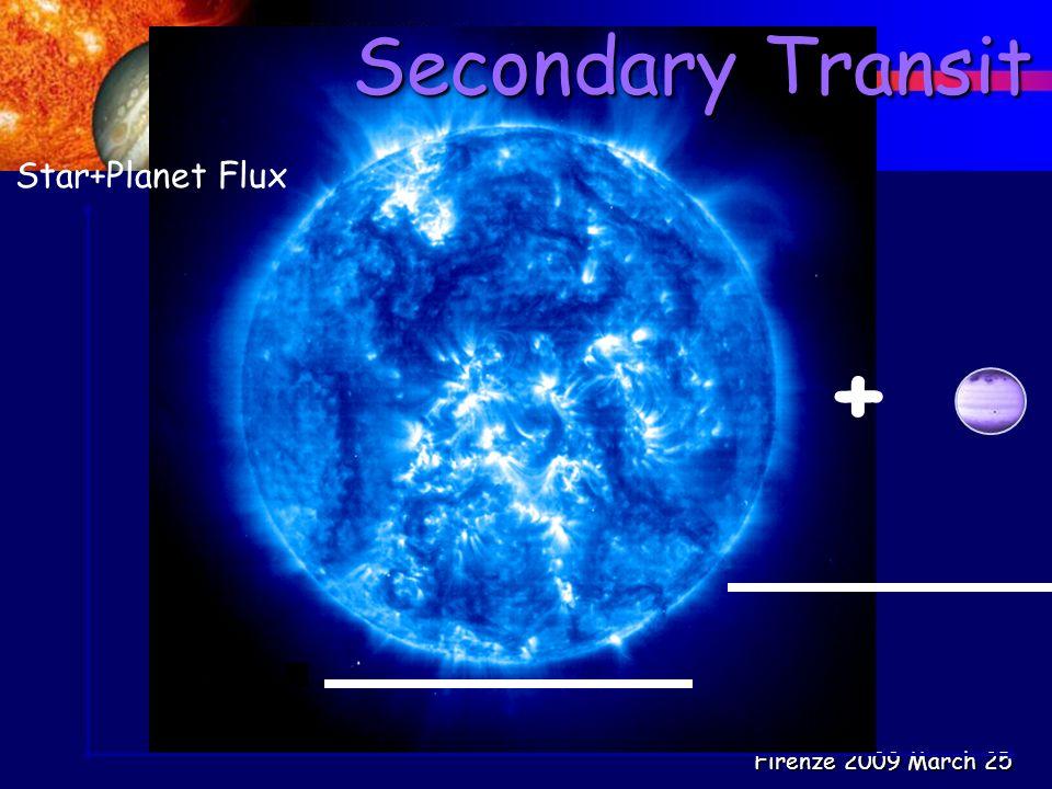 Firenze 2009 March 25 Secondary Transit Star+Planet Flux +