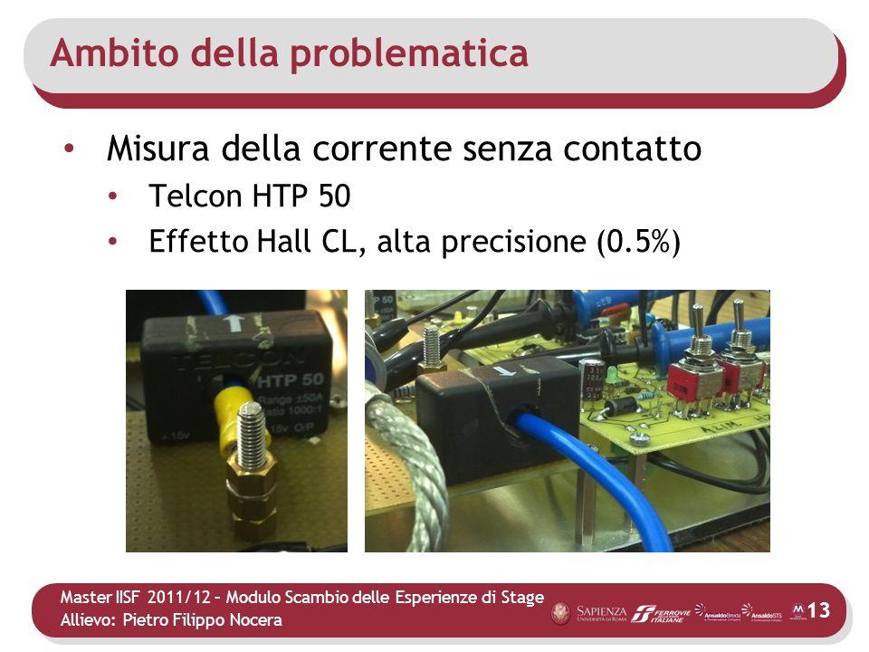 Master IISF 2011/12 – Modulo Scambio delle Esperienze di Stage Allievo: Pietro Filippo Nocera Ambito della problematica Misura della corrente senza co