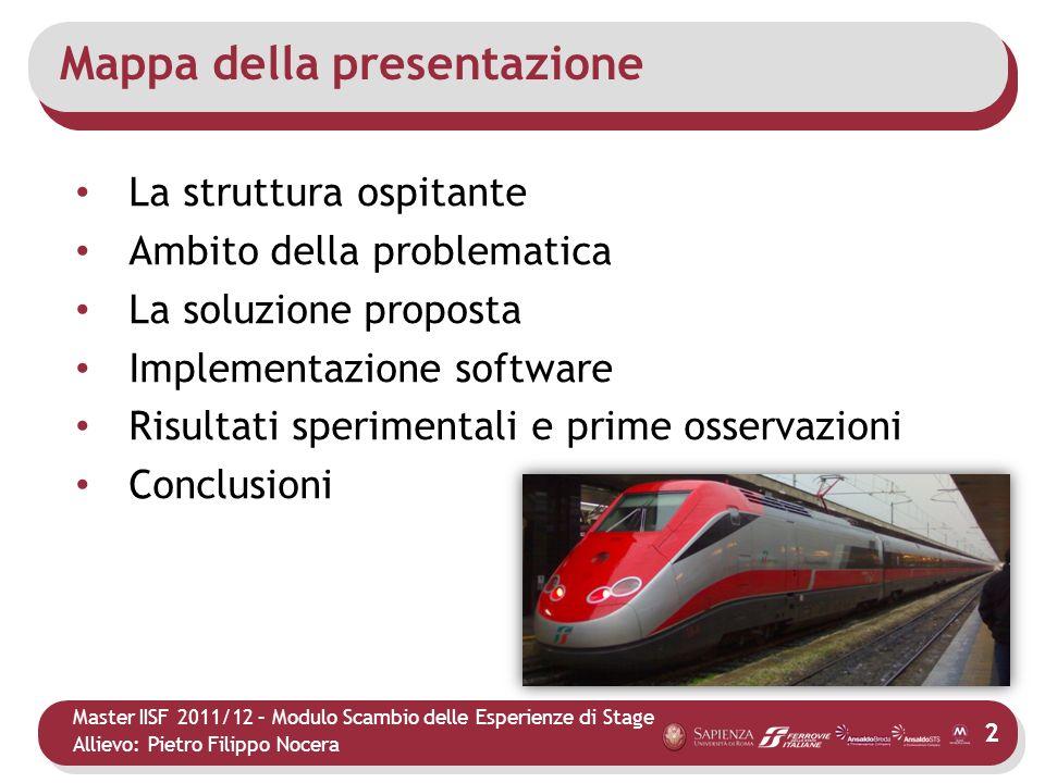 Master IISF 2011/12 – Modulo Scambio delle Esperienze di Stage Allievo: Pietro Filippo Nocera Risultati e osservazioni Perché implementare la nuova procedura.