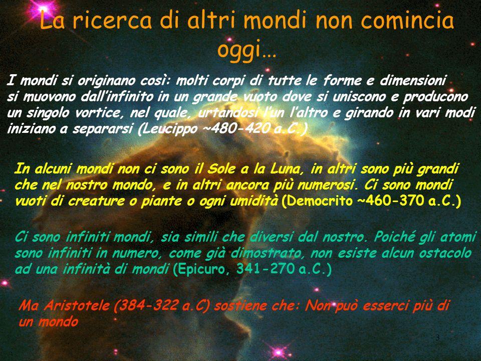 4 Giordano Bruno (1548-1600): De lInfinito, Universo et Mondi Sostiene che luniverso è infinito, vi sono infiniti mondi e che questi sono tutti abitati da essere intelligenti …e per qualcuno non è stata salutare..