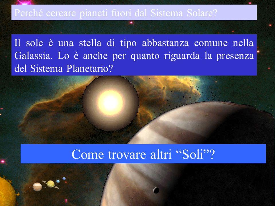 35 Perché cercare pianeti fuori dal Sistema Solare? Il sole è una stella di tipo abbastanza comune nella Galassia. Lo è anche per quanto riguarda la p