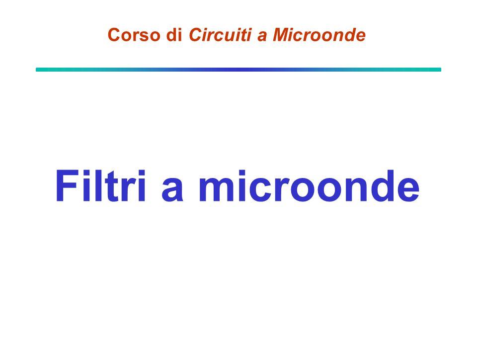 Corso di Circuiti a Microonde Filtri a microonde
