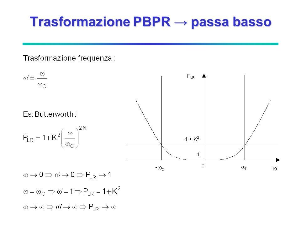 Trasformazione PBPR passa basso