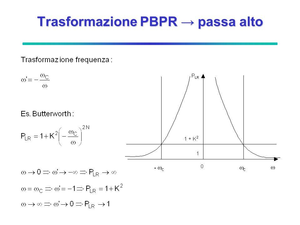 Trasformazione PBPR passa alto