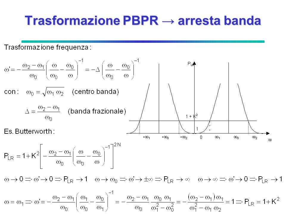 Trasformazione PBPR arresta banda