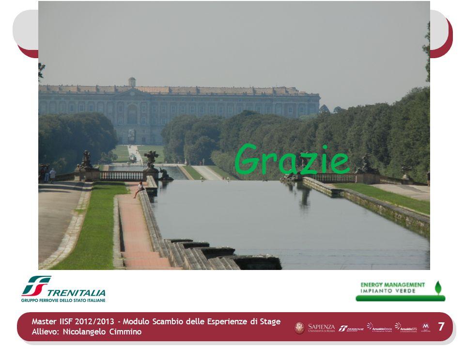 7 Master IISF 2012/2013 - Modulo Scambio delle Esperienze di Stage Allievo: Nicolangelo Cimmino Grazie