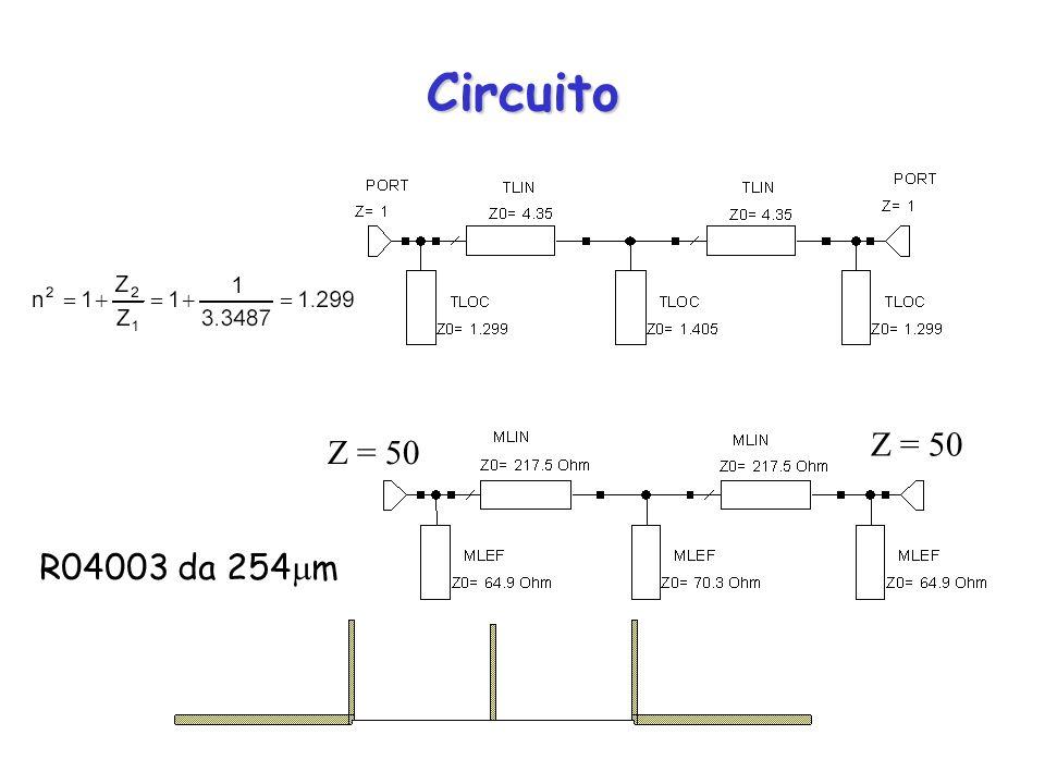 Circuito Z = 50 R04003 da 254 m