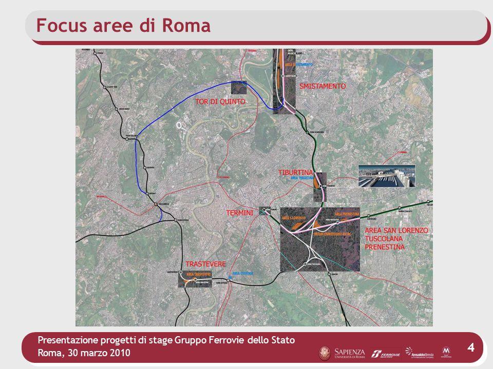 Presentazione progetti di stage Gruppo Ferrovie dello Stato Roma, 30 marzo 2010 4 Focus aree di Roma