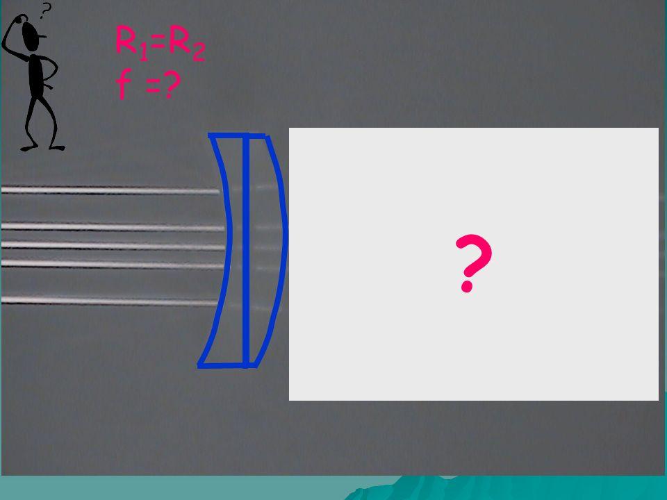 R 1 =R 2 f =
