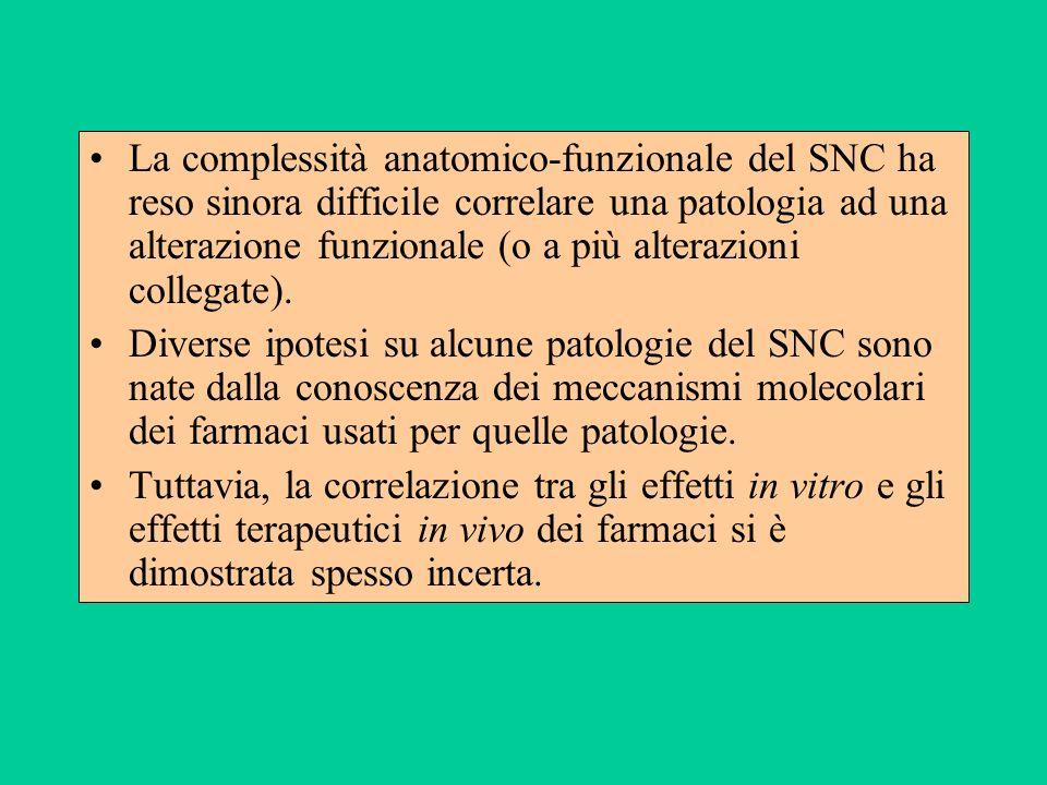La complessità anatomico-funzionale del SNC ha reso sinora difficile correlare una patologia ad una alterazione funzionale (o a più alterazioni colleg