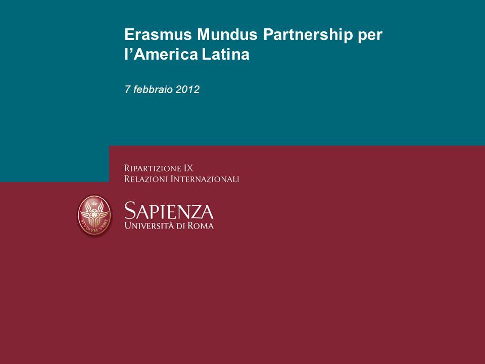 Erasmus Mundus Partnership per lAmerica Latina 7 febbraio 2012