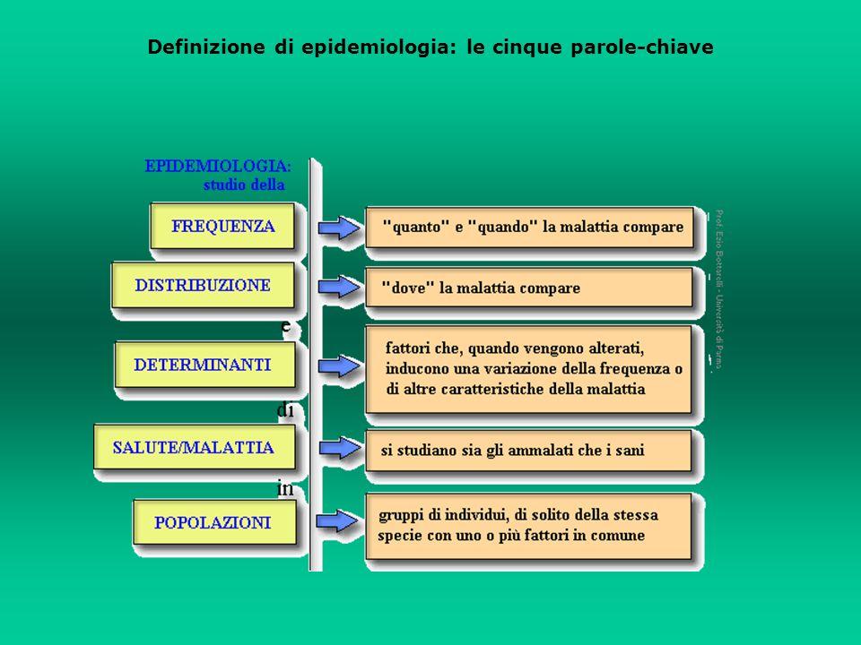 Definizione di epidemiologia: le cinque parole-chiave
