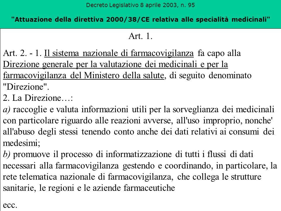Decreto Legislativo 8 aprile 2003, n. 95