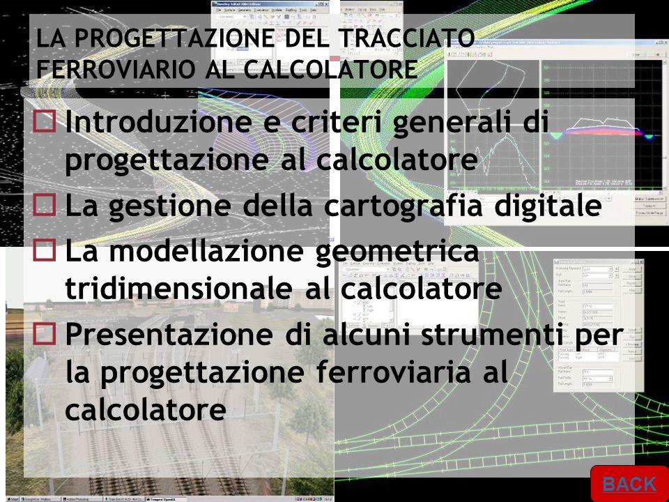 Master IISF A.A. 2012/2013 Progettazione dellinfrastruttura 6 6 LA PROGETTAZIONE DEL TRACCIATO FERROVIARIO AL CALCOLATORE Introduzione e criteri gener