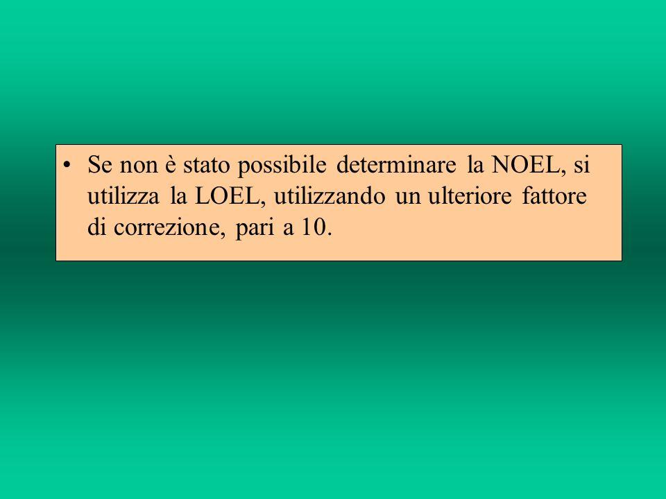Se le dosi sono espresse come peso/peso corporeo (es.