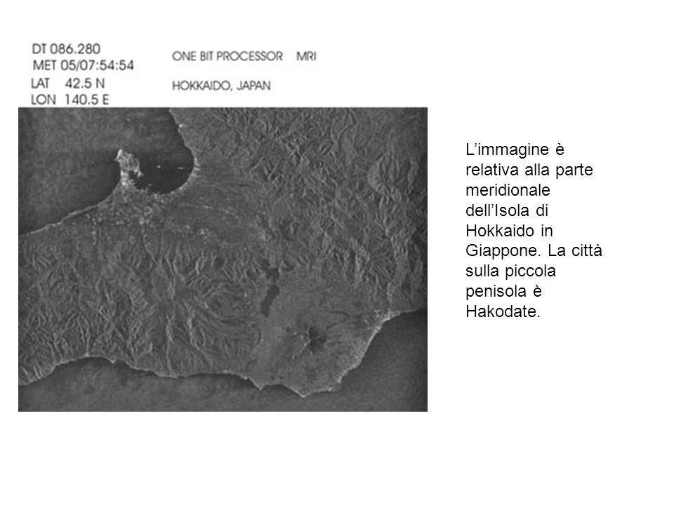 Limmagine è relativa alla parte meridionale dellIsola di Hokkaido in Giappone. La città sulla piccola penisola è Hakodate.