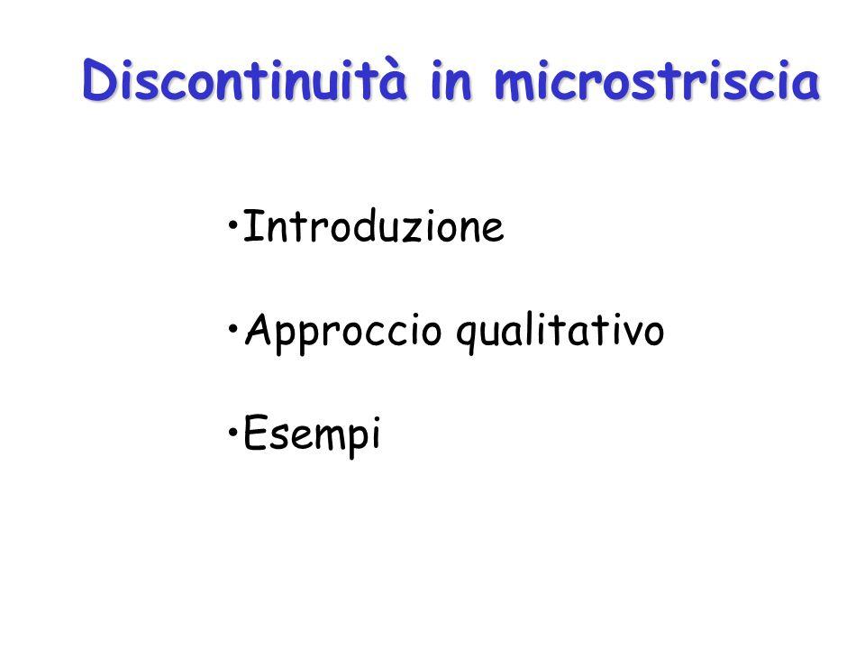 Discontinuità in microstriscia Introduzione Approccio qualitativo Esempi