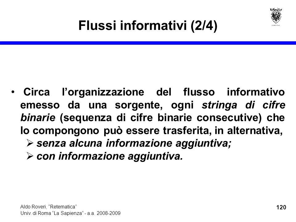 120 Aldo Roveri, Retematica Univ. di Roma La Sapienza - a.a.