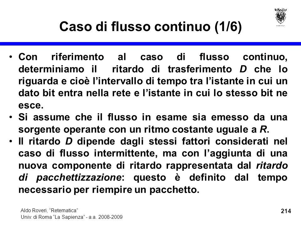 214 Aldo Roveri, Retematica Univ. di Roma La Sapienza - a.a.