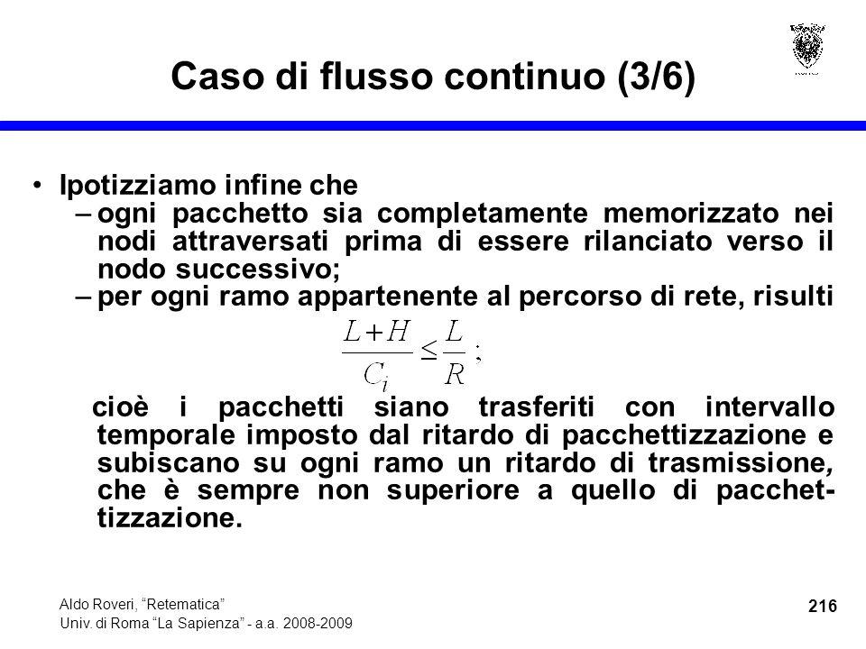 216 Aldo Roveri, Retematica Univ. di Roma La Sapienza - a.a.