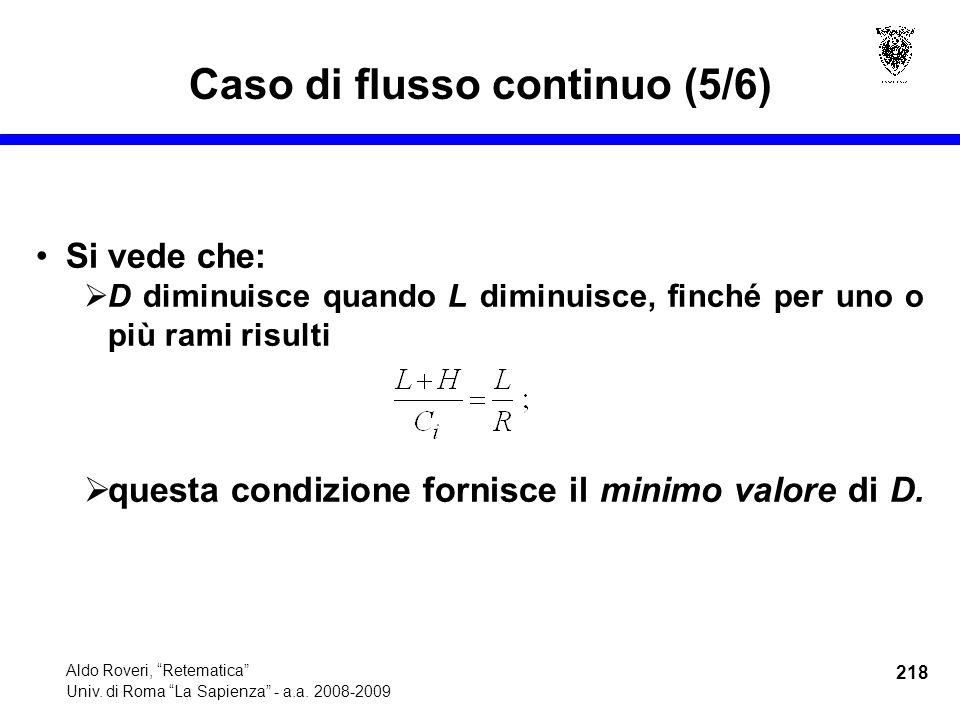 218 Aldo Roveri, Retematica Univ. di Roma La Sapienza - a.a.