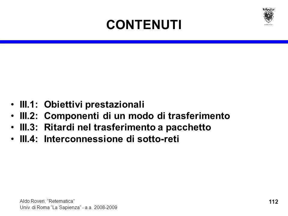 112 Aldo Roveri, Retematica Univ. di Roma La Sapienza - a.a.