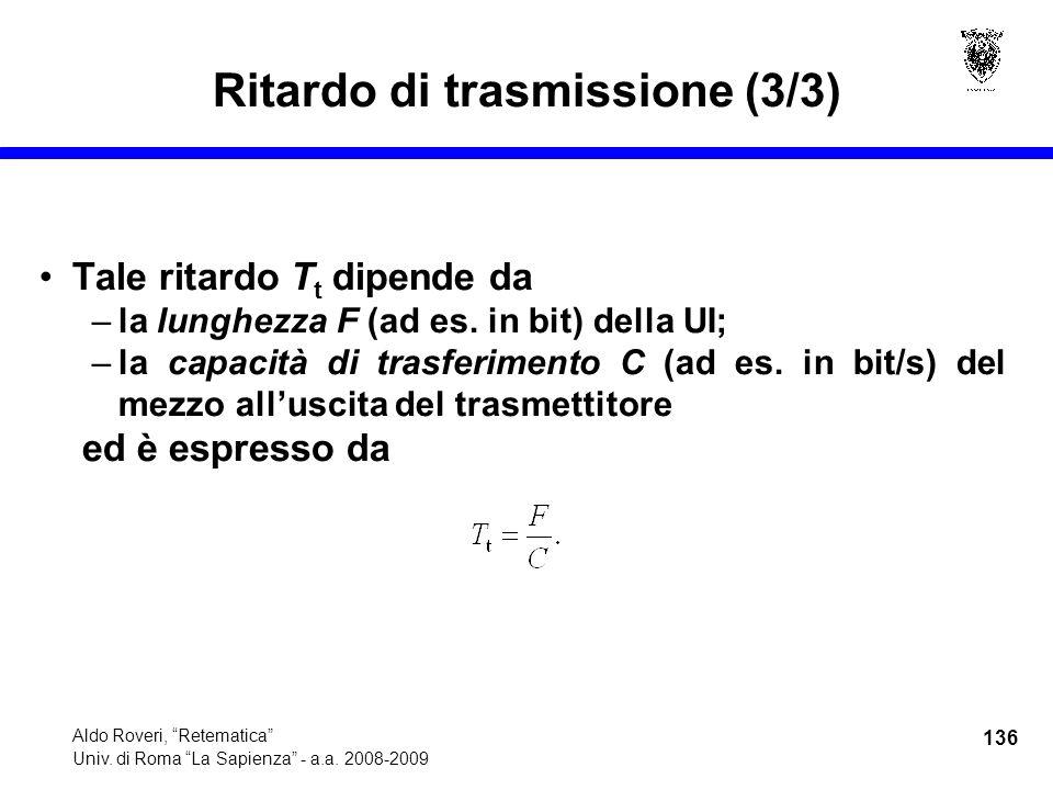 136 Aldo Roveri, Retematica Univ. di Roma La Sapienza - a.a.
