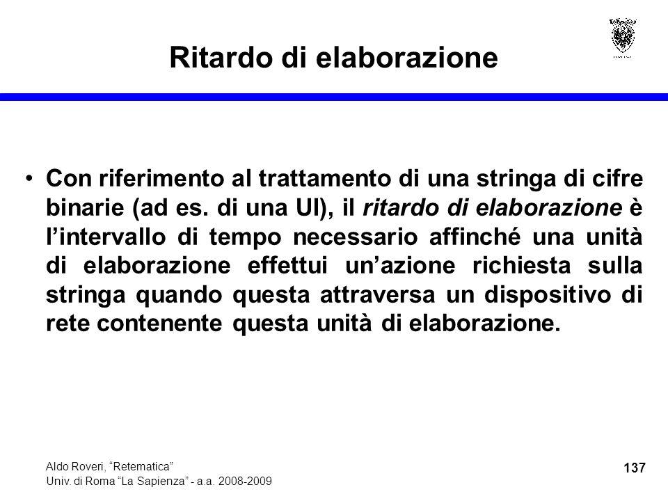 137 Aldo Roveri, Retematica Univ. di Roma La Sapienza - a.a.