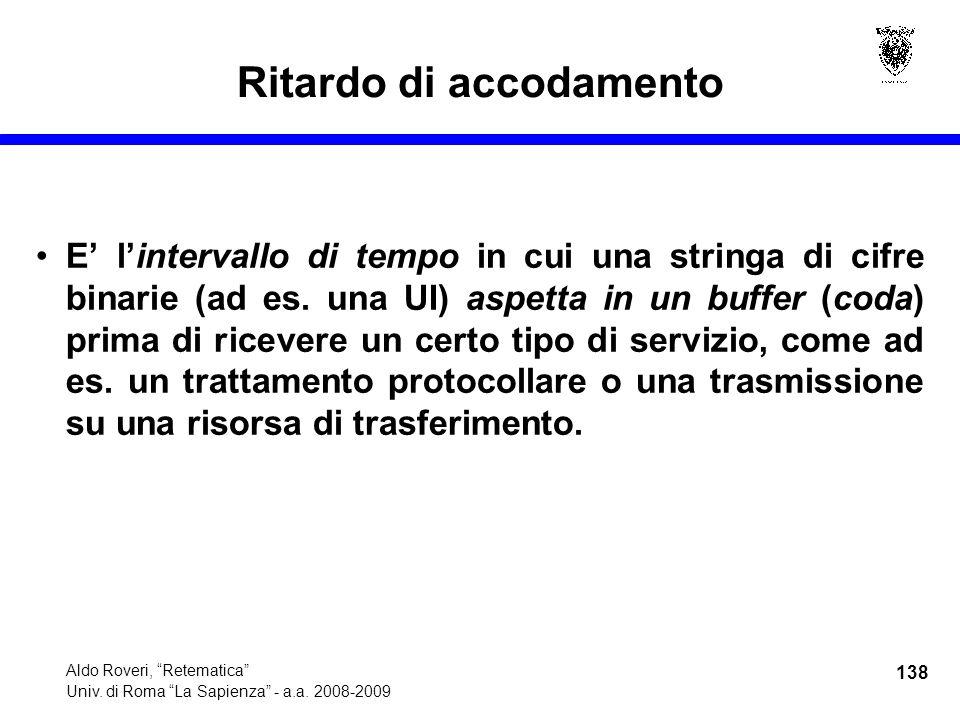 138 Aldo Roveri, Retematica Univ. di Roma La Sapienza - a.a.