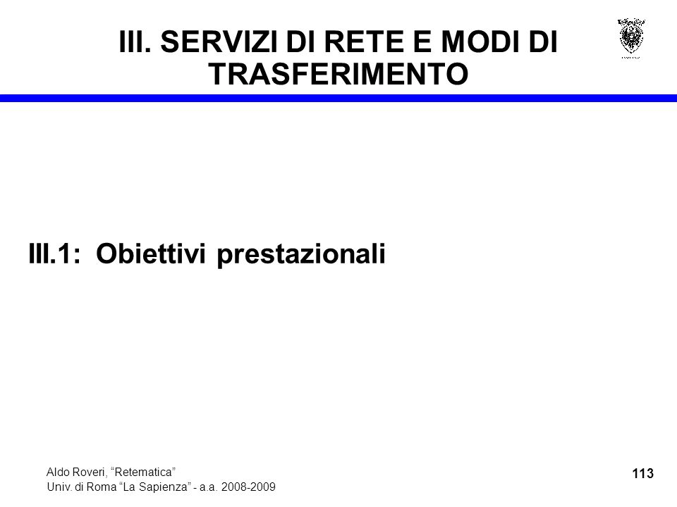 113 Aldo Roveri, Retematica Univ. di Roma La Sapienza - a.a.