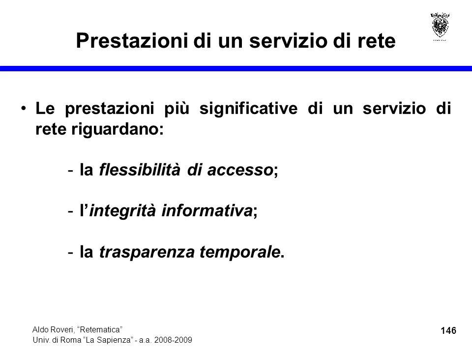 146 Aldo Roveri, Retematica Univ. di Roma La Sapienza - a.a.