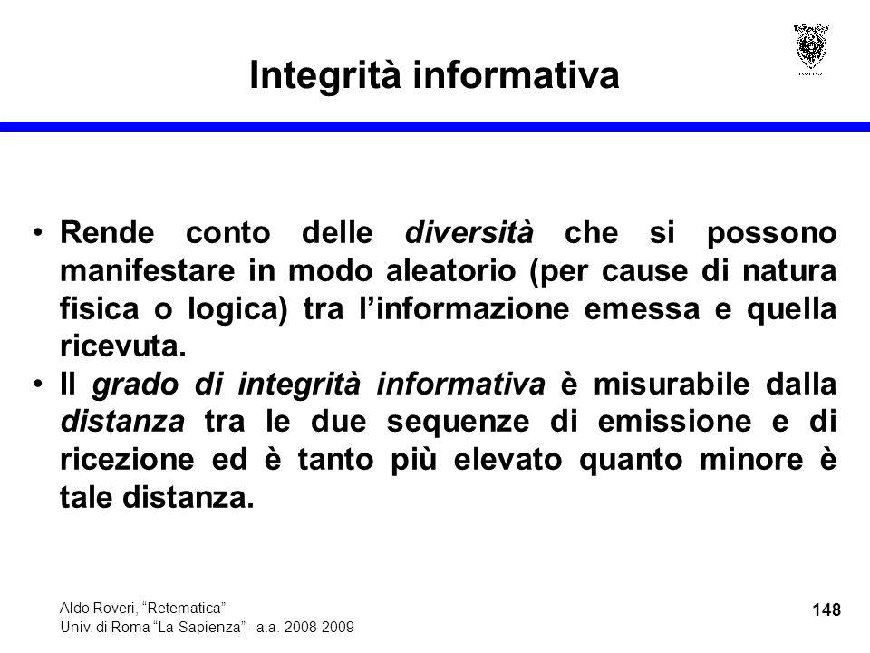 148 Aldo Roveri, Retematica Univ. di Roma La Sapienza - a.a.