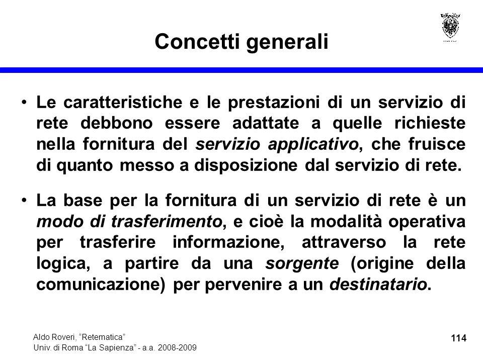 114 Aldo Roveri, Retematica Univ. di Roma La Sapienza - a.a.