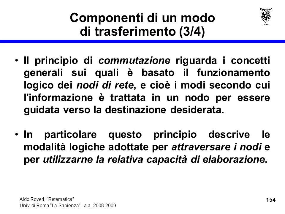 154 Aldo Roveri, Retematica Univ. di Roma La Sapienza - a.a.