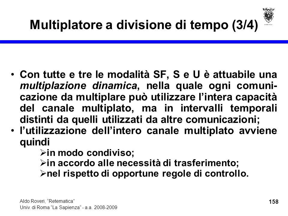 158 Aldo Roveri, Retematica Univ. di Roma La Sapienza - a.a.