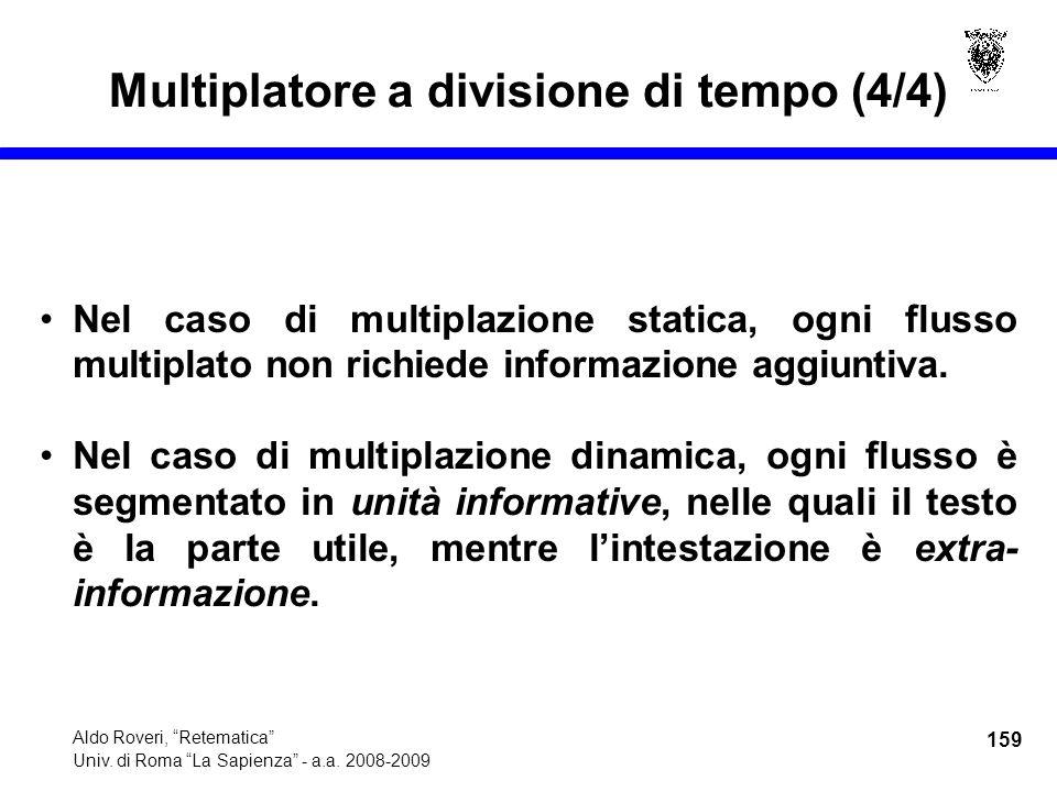 159 Aldo Roveri, Retematica Univ. di Roma La Sapienza - a.a.