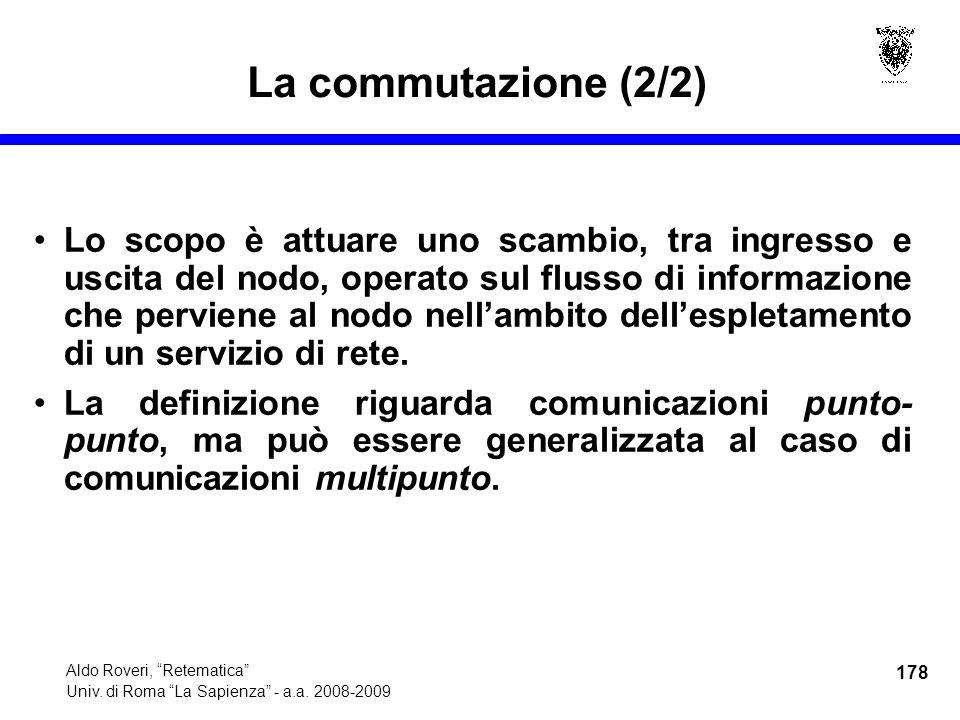 178 Aldo Roveri, Retematica Univ. di Roma La Sapienza - a.a.