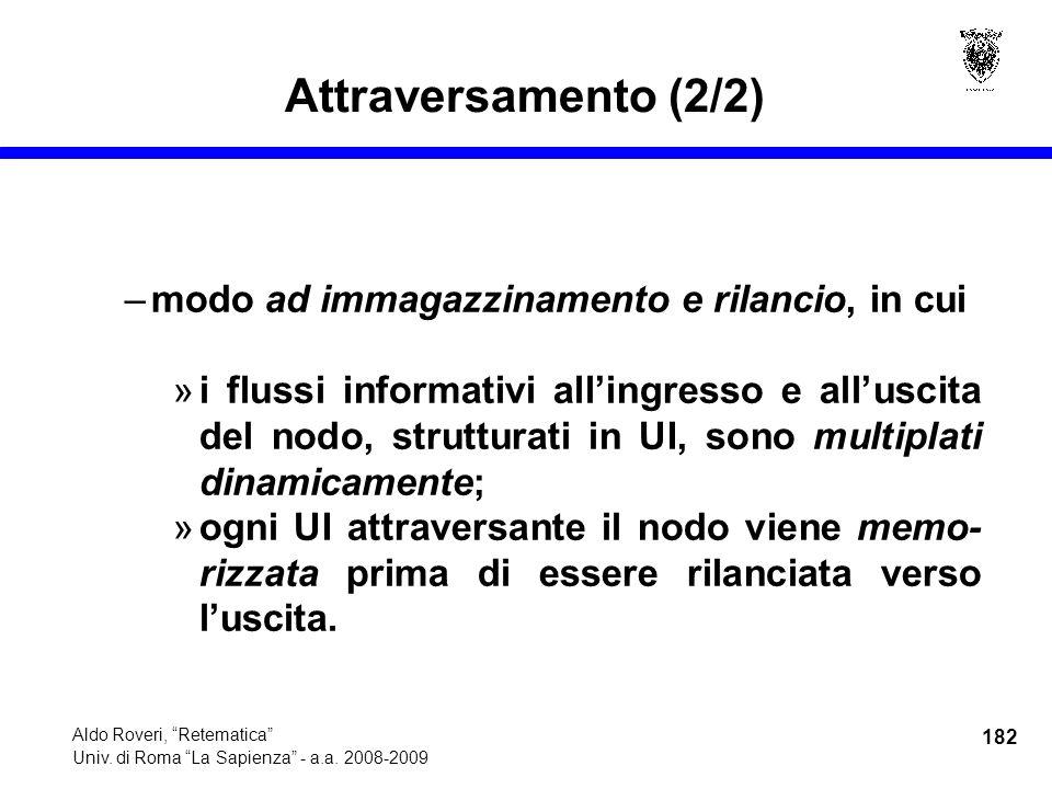 182 Aldo Roveri, Retematica Univ. di Roma La Sapienza - a.a.