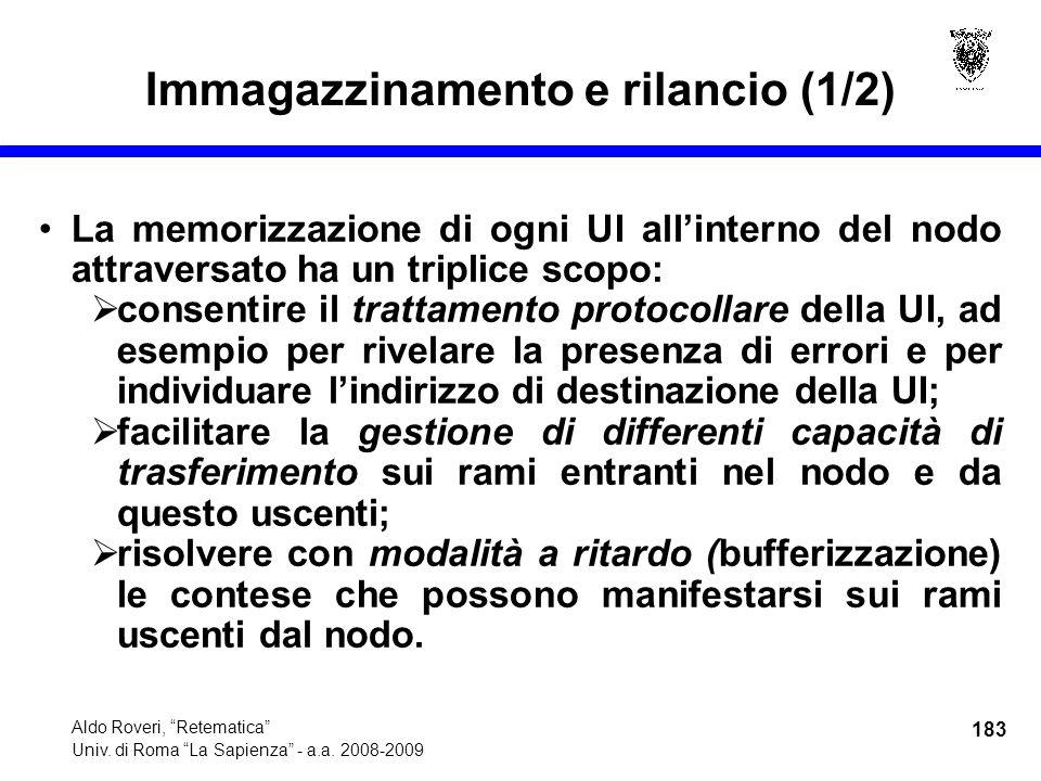 183 Aldo Roveri, Retematica Univ. di Roma La Sapienza - a.a.