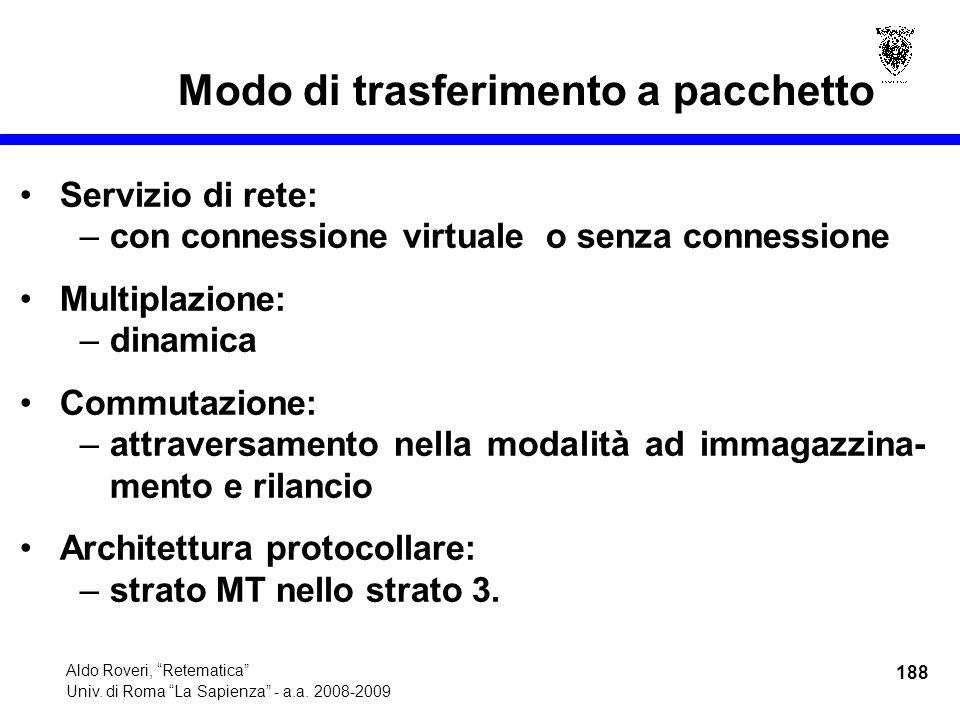 188 Aldo Roveri, Retematica Univ. di Roma La Sapienza - a.a.