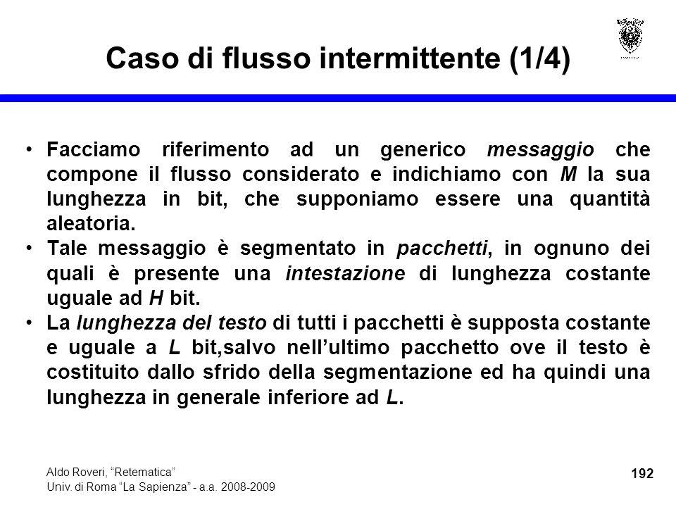 192 Aldo Roveri, Retematica Univ. di Roma La Sapienza - a.a.