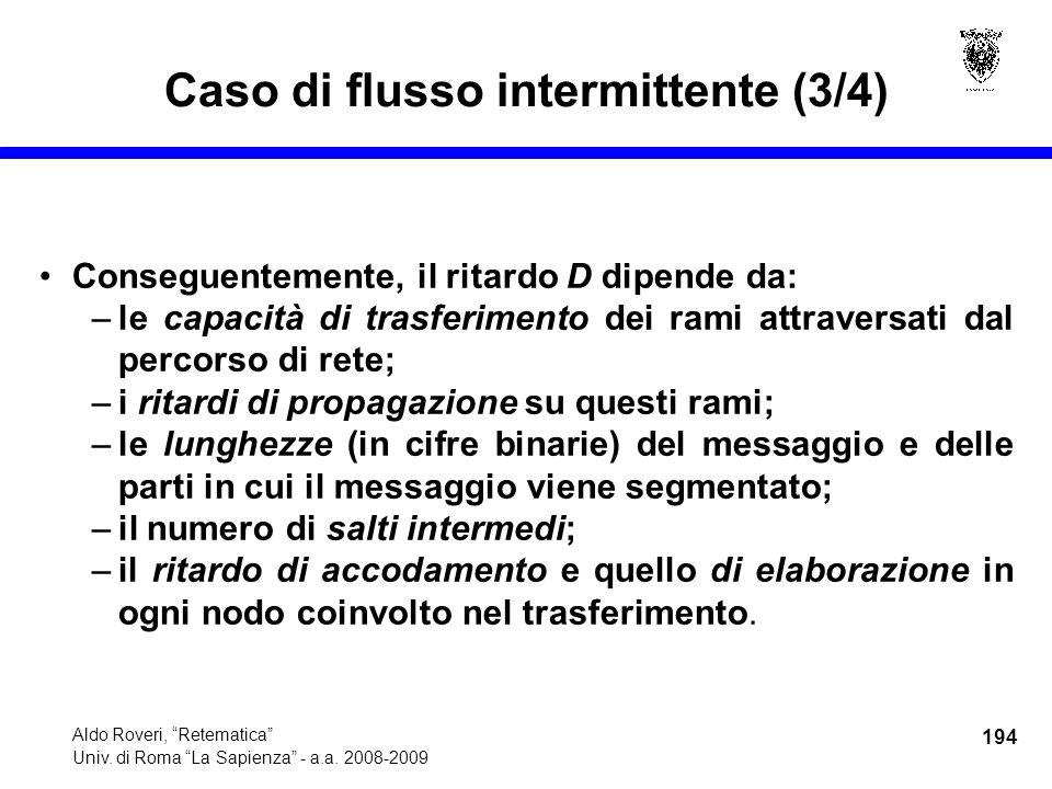 194 Aldo Roveri, Retematica Univ. di Roma La Sapienza - a.a.